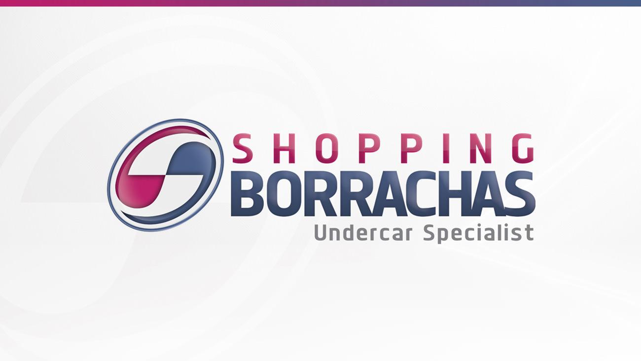 Logotipo Novo Shopping Borrachas