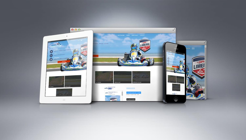 criação de site - limeira kart club