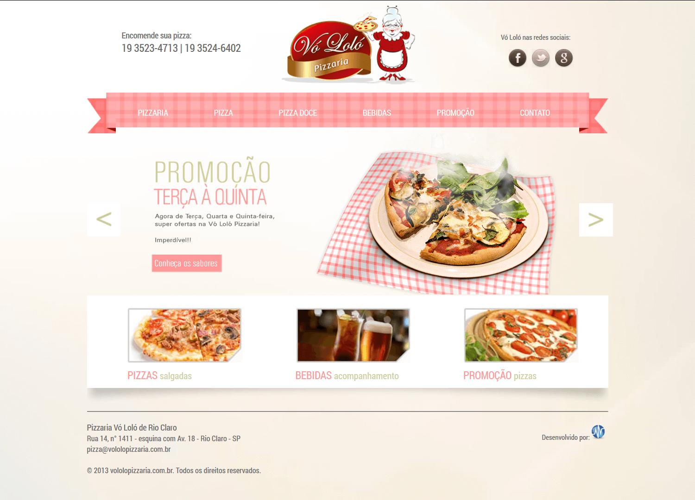 Criação de Site: Pizzaria Vó Loló