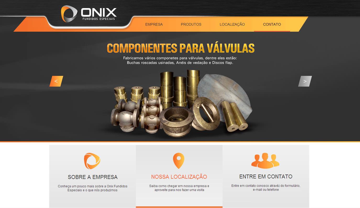 Web Site Onix Fundidos