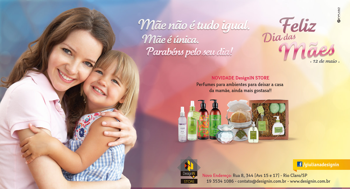 Anúncio DesignIN - Dia das Mães