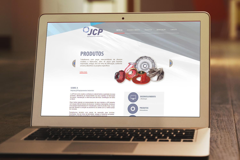 Criação de site JCP Equipamentos Industriais