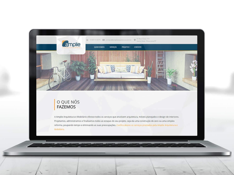 Criação de Site Amplie Arquitetura e Mobiliário