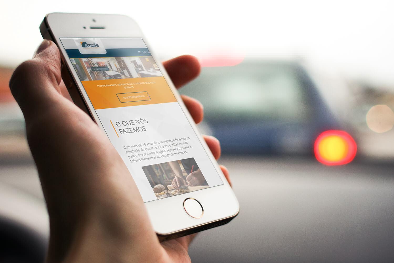 Site Responsivo Mobile Amplie Arquitetura e Mobiliário