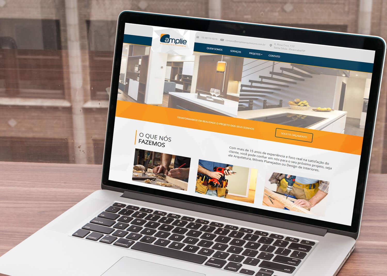Web Design Amplie Arquitetura e Mobiliário