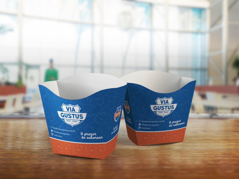 embalagem fritas food truck via gustus