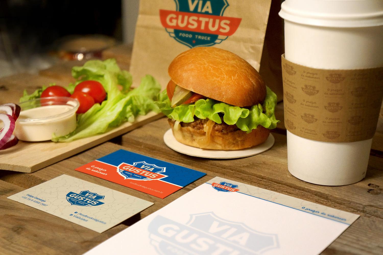 identidade visual food truck via gustus