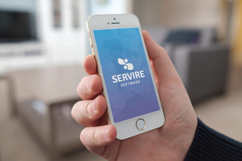 Aplicação mobile logomarca Servire Software