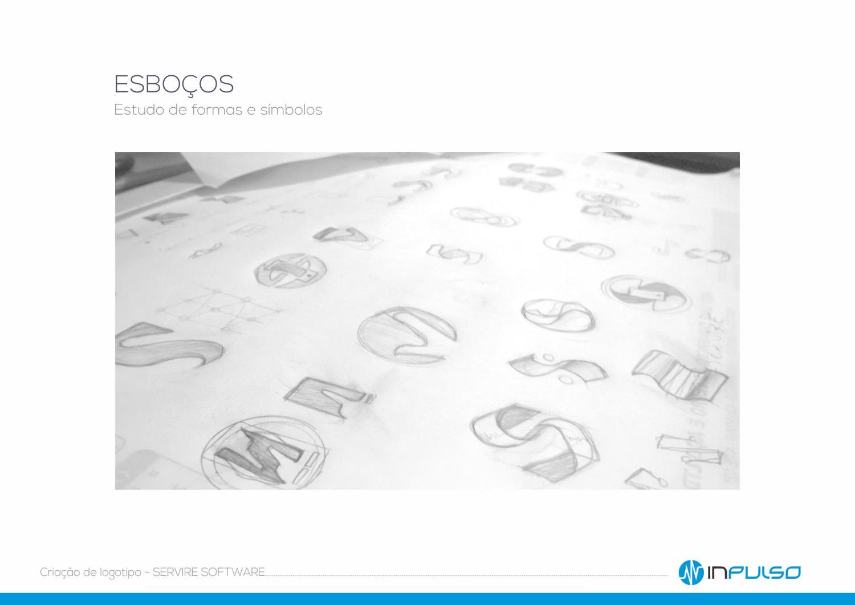 Esboços Criação Logotipo Servire Software