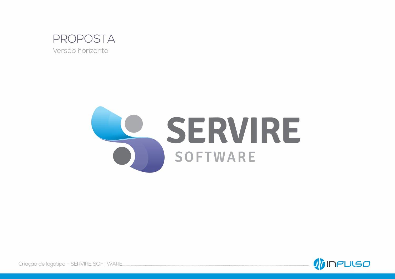 Versão Horizontal Logotipo Servire Software