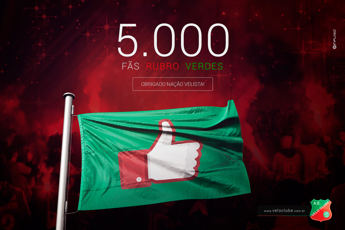 comemoração 5000 fans facebook velo clube