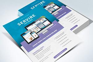 criação impressão folheto servire software