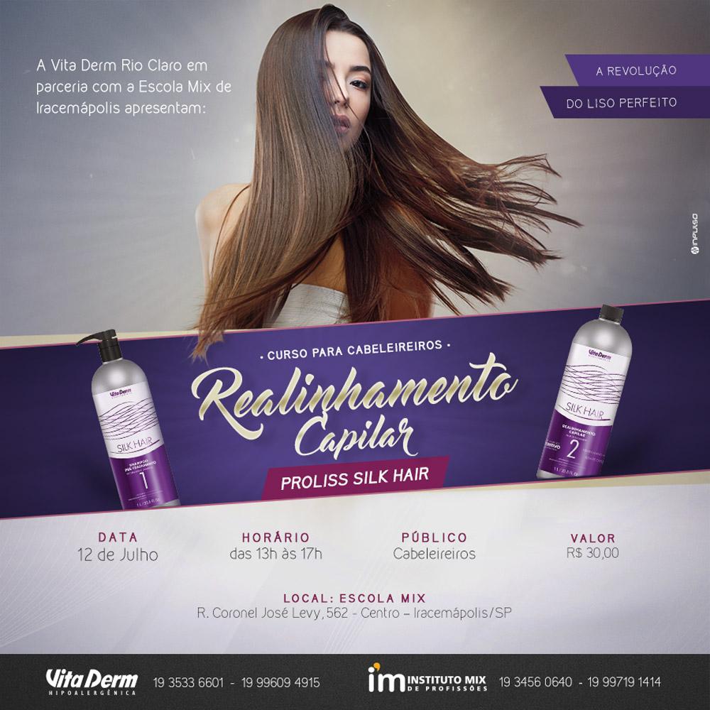 Curso cabeleleiro silk hair Instituto Mix e Vita Derm