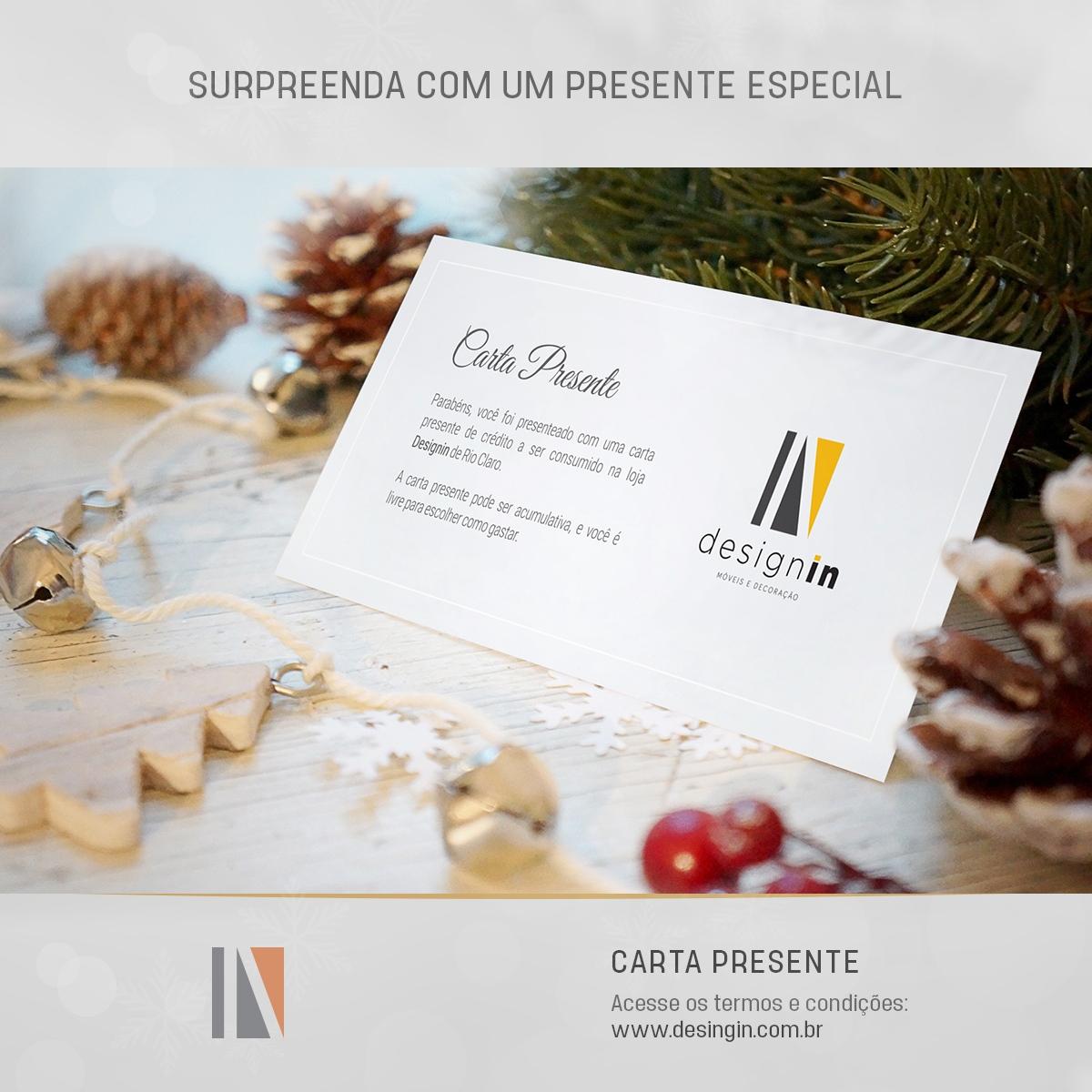 Carta Presente Natal Designin Store