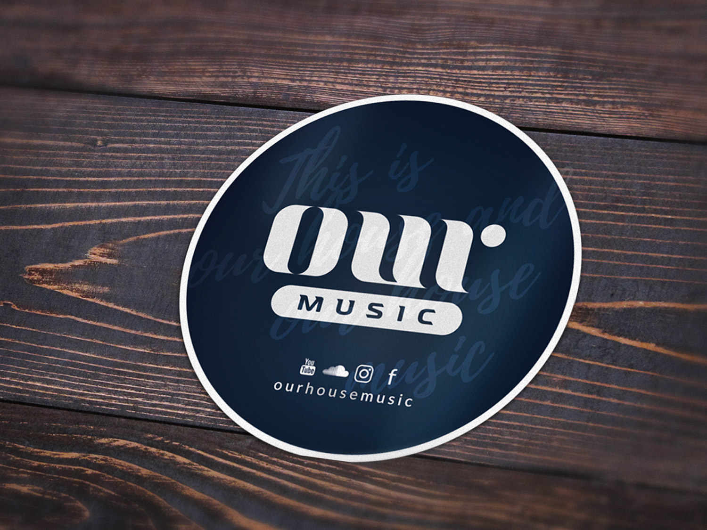 adesivo dj our music