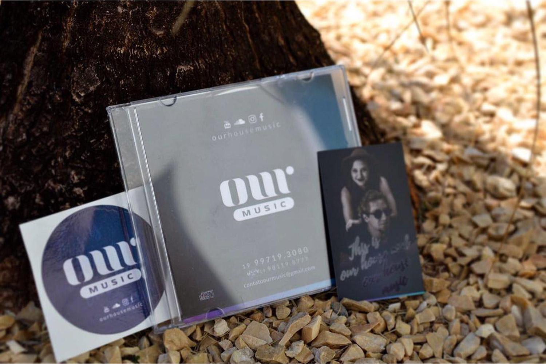 kit dj adesivo, cd e cartão visita